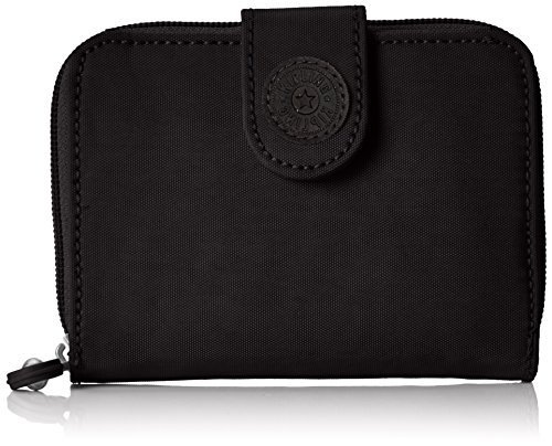 Kipling Damen NEW MONEY Geldbörse, Schwarz (True Black), 9.5x12.5x3 cm