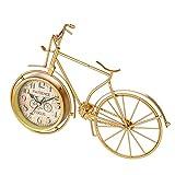 LIOOBO Reloj de Forma de Bicicleta Adorno de Escritorio Mudo Simple Multifunción Personalizado Hierro Craft Reloj Adorno de Escritorio para el hogar Tienda Hotel (Sin batería) Reloj