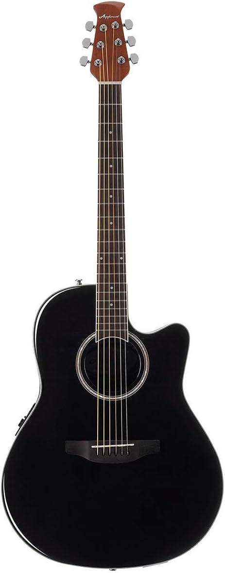 Ovation Applause Guitarra Electro-Acústica Mid Cutaway black AB24II-5