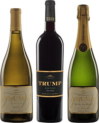 "Trump Winery""Taste of Trump"" Mixed Wine Pack, 3 x 750 mL"