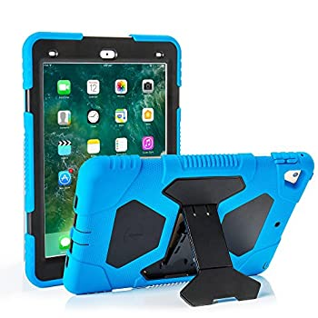ACEGUARDER iPad 5th/6th Generation Cases iPad 2018 Case iPad 9.7 Inch Case Hybrid Shockproof Rugged Drop Protection Cover Built with Kickstand No Screen Protector Included blue/black