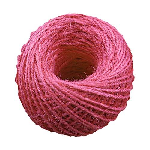 Cuerda de tejer, material de cáñamo, cuerda trenzada de colores de aproximadamente 0,2 cm para colgar imágenes, bricolaje, pulseras anudadas, envolver regalos, etc.