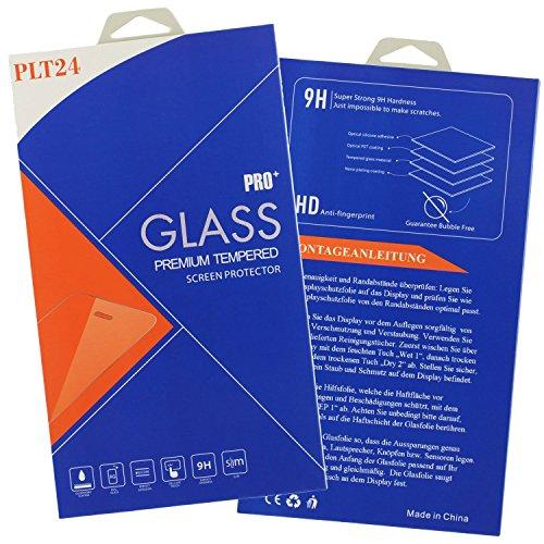 plt24 Panzer Schutzfolie Schutzglas 9H Hartglas Glasfolie Bildschirm Folie kompatibel mit Microsoft Lumia 550