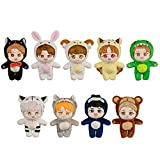 EXO Baekhyun Chanyeol Sehun Kai Xiumin Suho D.O.Chen Plush Doll with Outfit Suit (Chanyeol Doll+Tiger Jumpsuit)