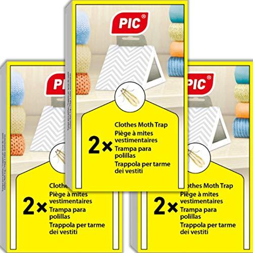 bon comparatif 3 packs de pièges anti-mites PIC = 6 – convient aux tissus anti-mites,… un avis de 2020