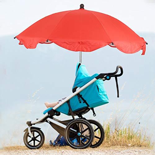 Ong Parasol para Cochecito de bebé, sombrilla Ajustable para Cochecito, para Bicicletas de Cochecito(Red Umbrella)