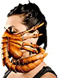 Byjccar Facehugger Mask Horror Halloween Alien Hugger Costume Leather Scorpion Latex Mask Scary Face Cover Party Cosplay Prop (leather hand stitched(Boutique style))