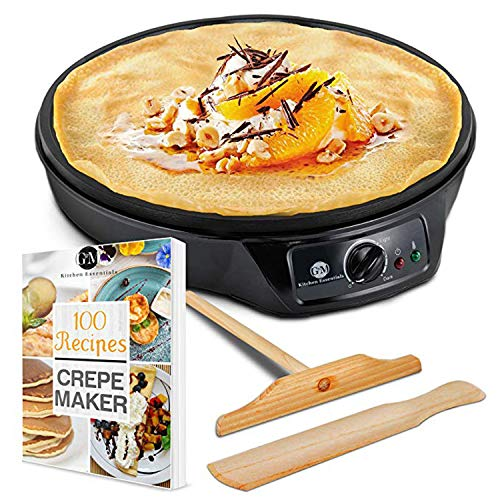 "Crepe Maker Machine Pancake Griddle – Nonstick 12"" Electric..."