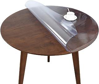 JMSL Bordsdukar rund genomskinlig bordsduk frostad PVC halkfri tvättbar hem restaurang skrivbord skyddsdyna, flera storlek...