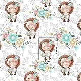 Pingianer Tela de algodón 100 % para niños, por metros, artesanía, tela de costura, 100 x 160 cm