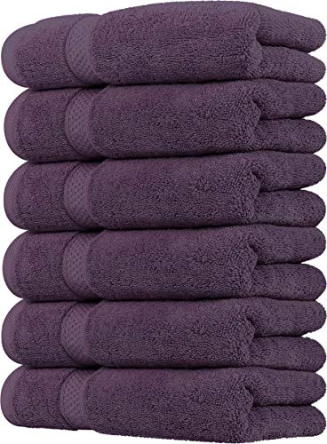 Utopia Towels Premium Plum Hand Towels - 100% Combed Ring Spun Cotton, Ultra Soft and Highly Absorbent, 700 GSM Exrta Large Thick Hand Towels 16 x 28 inches, Hotel & Spa Quality Hand Towels (6 Pack)
