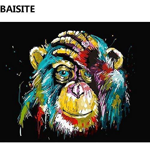 baodanla Frameless olieverf Baisite D Olie Ng Door Nummers Dierfoto's Canvas Ng Voor Woonkamer Wall Art Home