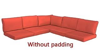 Do4U 6 Pieces Outdoor Sofa Patio Furniture Sectional Conversation Set Cushion Cover (OrangeRed)