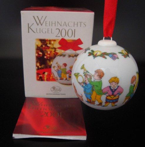 Hutschenreuther Weihnachtskugel 2001, Porzellankugel, Weihnachten