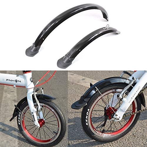 NO LOGO Zhao 14 Pulgadas Bicicleta Plegable 412 Defensas 16 Pulgadas Sra683 20 Pulgadas SP8 Bicicleta de los Guardabarros de Bicicletas Plegables prácticos Accesorios (Color : 14 D Silver)
