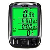 AODENER Ciclocomputador para bicicleta impermeable, cuentakilómetros retroiluminación LCD, 25 funciones, ordenador de bicicleta para seguimiento de velocidad en tiempo real