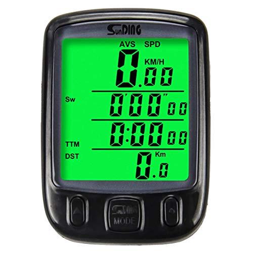 AODENER Ciclocomputador para bicicleta impermeable, cuentakilómetros retroiluminación LCD, 25 funciones, ordenador de...