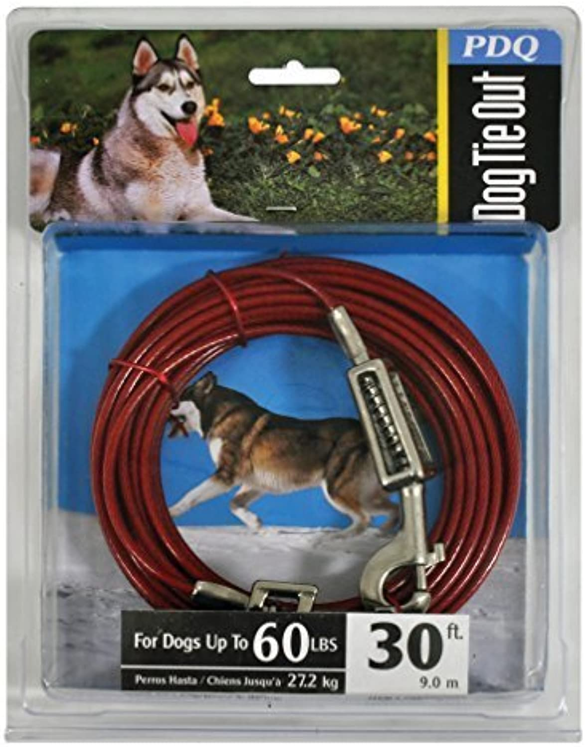 Boss Pet Products Q3530 SPG 99 Cable Dog Tie Out 30 Large by Boss Pet Products