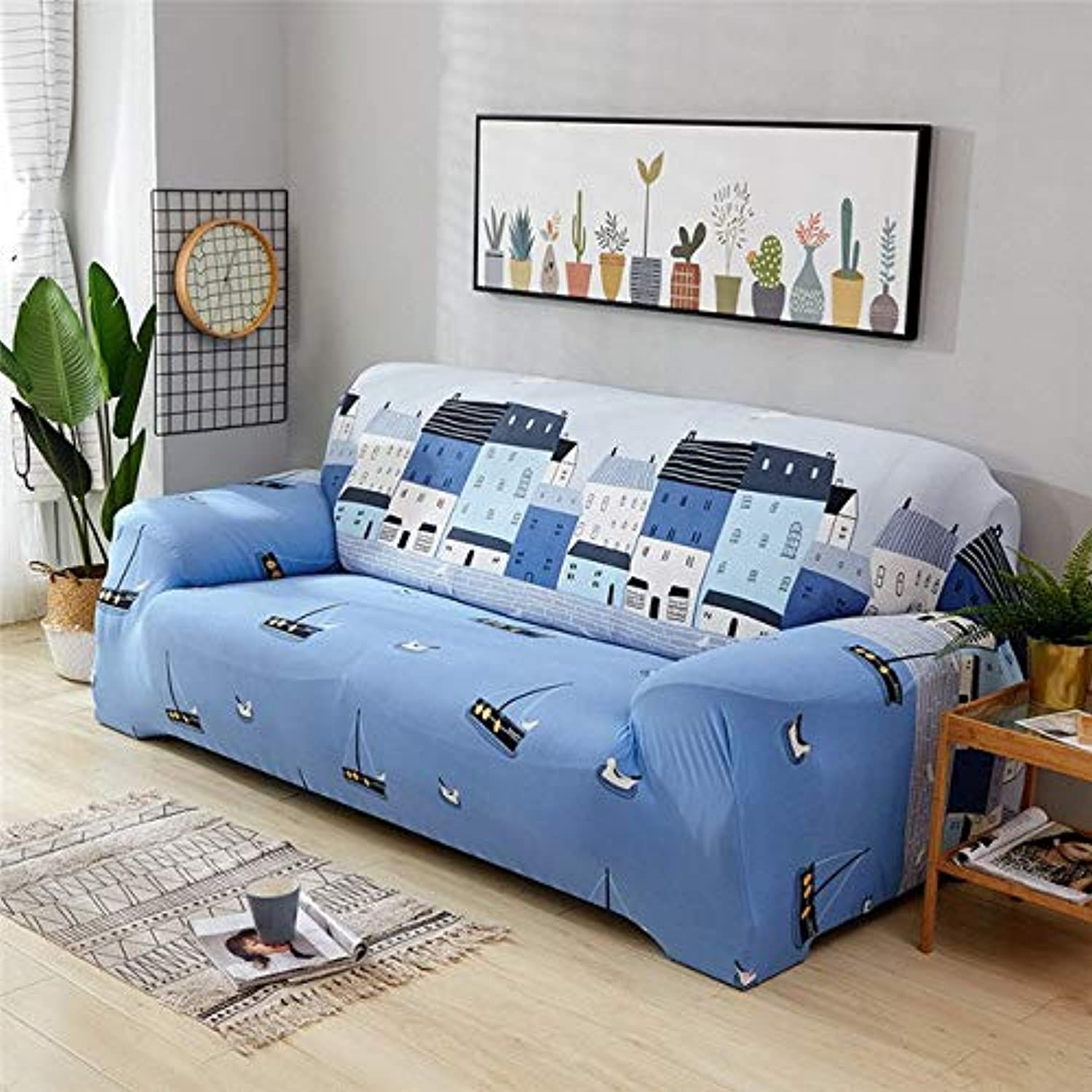 Elastic Sofa Wrap All-Inclusive Slip-Resistant Slipcovers Sofa Cover Furniture Predector Cushion Cover for 1 2 3 4 Seater Sofa   08, Two Seater