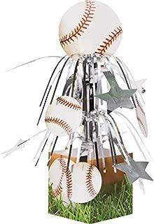 Creative Converting 267963 Sports Fanatic Mini Cascade Centerpiece with Base Baseball
