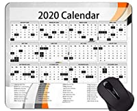2020年のゲーミングマウスパッドのカスタム、ステッチされたエッジを持つ曲線をテーマにしたマウスパッドのカレンダー