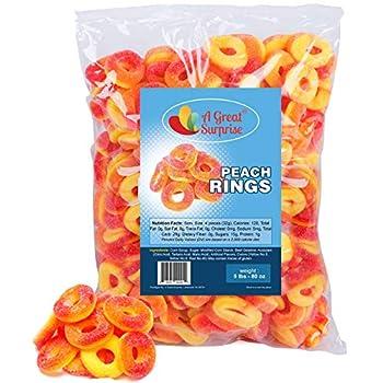 Peach Rings - 5 Pounds - Gummy Rings Candy - Gummy Rings Bulk - Orange Candy -BULK Candy