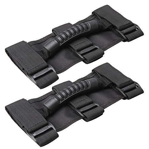 Oryx Auto Roll Bar Grab Handles 2 Pack for ATV, UTV, 1987-2021 Jeep Wrangler CJ YJ TJ LJ JK JL - Premium Quality Roll Bar Accessories