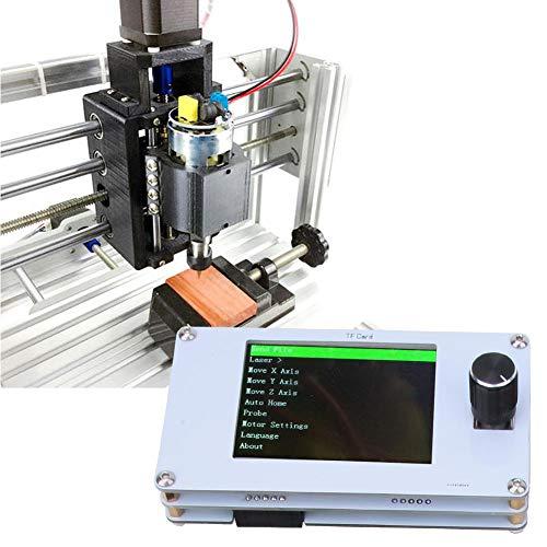 CNC-Steuerplatine, 3-Achsen-CNC-Laser-Gravurmaschinen-Steuerplatine mit Bedienfeld 12V/5V für die Holzbearbeitung DIY