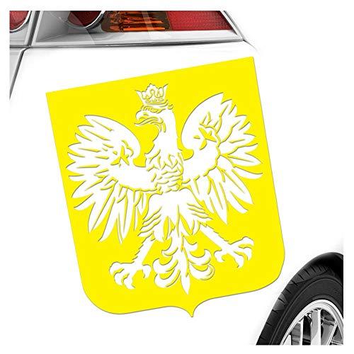Kiwistar Autocollant blason de la Pologne - 25 couleurs fluo mat