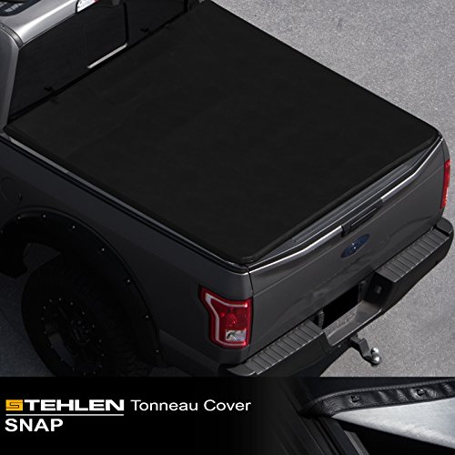 "Stehlen 714937188600 Hidden Snap Tonneau Cover - Black For 2016-2020 Toyota Tacoma 6 Feet (72"") Long Bed"