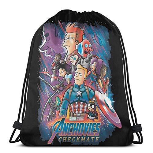 Checkmate-Futurama Drawstring Backpack String Bags Cinch Sacks Daypack for Traveling Sport Gym Yoga Storage Gift