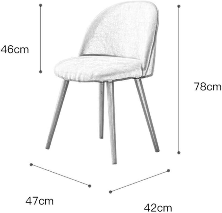 Ping Bu Qing Yun Chaise, Chaise de Salle, Chaise de Cuisine, Moderne Minimaliste Tabouret, Chaise de Bureau Casual avec Dossier 6 Couleurs en Option @ (Color : C) F