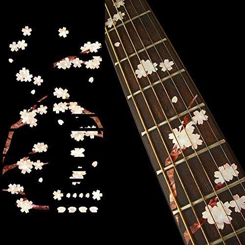 Fretboard Markers Inlay Stickers Stickers voor Gitaar - Kersenbloesem Boom/Sakura
