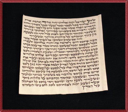 10.03 cm Kosher scroll Klaf für, Pergament, mit Menorah-Motiv, hergestellt in Israel