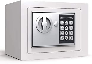 Electronic Safe Box Security Steel Small Digital Safety Cash Box Security with Two Keys for Home Office,23 * 17 * 17cm