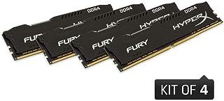 キングストン HX429C17FBK4/16 4GBx4枚 DDR4 2933MHz CL17 1.2V HyperX Fury Black OC Unbuffered DIMM PC4-23400