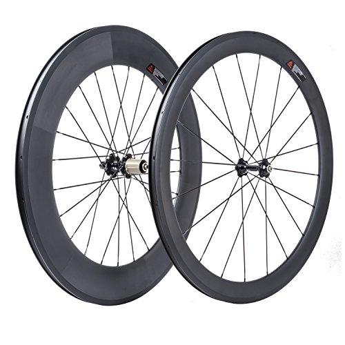 VCYCLE 700C Vélo Route Carbone Paire Roues Avant 50mm Arrière 88mm 23mm Largeur Clincher Shimano...