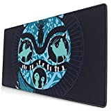 Ye Hua Extra Large Mouse Pad -Natural Princess Wolf Desk Mousepad - 15.8x29.5in (3mm Thick)- XL Protective Keyboard Desk Mouse Mat for Computer/Laptop