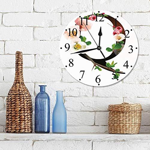 Silencioso Wall Clock Decoración de hogar de Reloj de...
