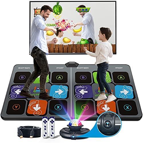 HAPHOM Dance Mat for Adult Kids, Electronic Dance Mat, Double Game Dance Floor Portable Musical...