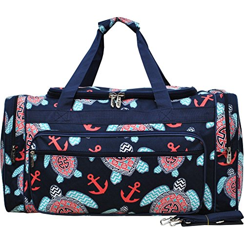 Sea Turtle Anchor Navy/Navy NGIL Canvas Carry on Shoulder 23' Duffle Bag