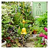 ZHUANQIAN Chimes Viento, Pájaro Metal Rustic Aeolian Bells Wind Chimes (Color : Yellow)