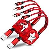 Amuvec Câble Multi USB, 2Paquet/ 3 en 1 Rétractable Multi Chargeur USB Câble Rapide avec IP Micro...