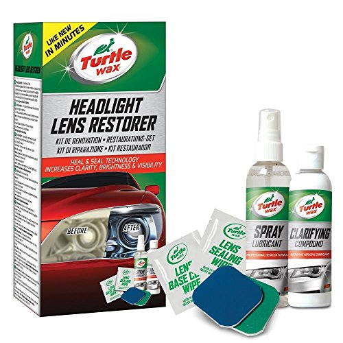 Turtle Wax Headlight Restorer Kit Lens Restoration Cleaner