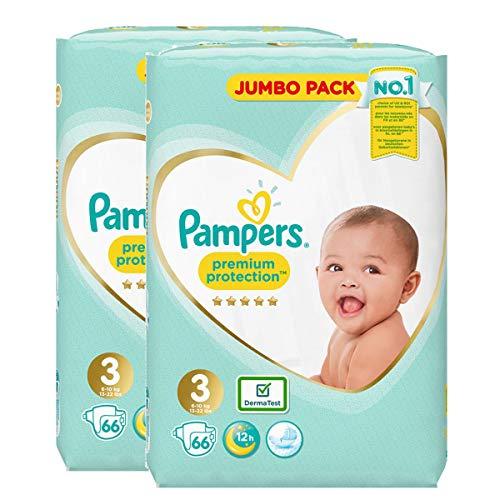 Pampers Baby Windelhöschen, Größe 3, Premium-Schutz, Riesen-Jumbo-Pack, 2 Stück