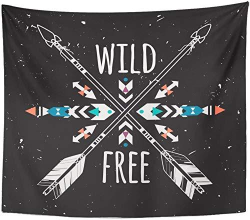 wymhzp Tapiz Cruzado Flechas étnicas y Tribales Boho Hippie Tapices Indios Americanos Tapiz para Sala de Estar Dormitorio Dormitorio 150x130cm