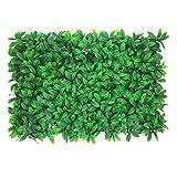 Pannelli di piante artificiali da 23,6 x 15,7 pollici Fiori da parete Protezione dai raggi UV Pianta da siepe per la privacy Decorazioni per schermi da siepe per giardino Cortile domestico e verde 4