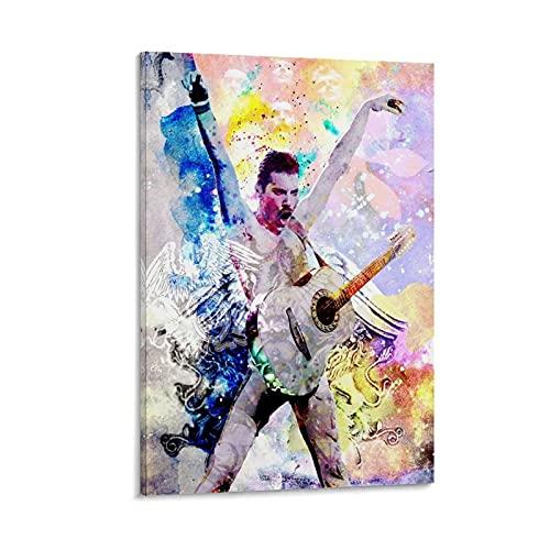 ASDH Freddie Mercury - Queen Poster decorativo da parete per soggiorno, camera da letto, 30 x 45 cm