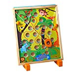 jojofuny Wooden Maze Toy Mobile Children Maze Balance Board Toy Puzzle Table Game Labyrinth Game Toy Juguete Educativo para Navidad Birthday Gift Favor