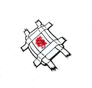 DXYMOO Funny Japan JDM Injuried Band Aid Reflective Car Window Stickers 3M 12x9.3cm 1PCS
